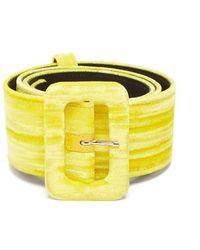 Attico - - Velvet Belt - Womens - Yellow - Lyst