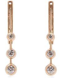 Marie Mas - Diamond, Amethyst, Topaz & 18kt Rose-gold Earrings - Lyst