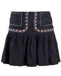 Étoile Isabel Marant - Jessie Pinstripe Gathered Skirt - Lyst