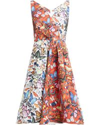 Mary Katrantzou - Butterfly Printed Flared Faille Dress - Lyst