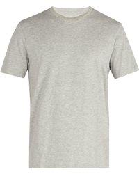FRAME - Crew-neck Cotton-jersey T-shirt - Lyst