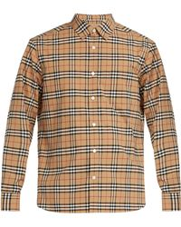 Burberry - George House Check Cotton Blend Shirt - Lyst