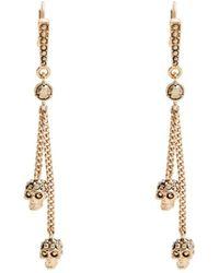 Alexander McQueen   Crystal-embellished Skull-drop Earrings   Lyst