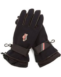 Moncler Grenoble - Logo Embroidered Padded Twill Gloves - Lyst