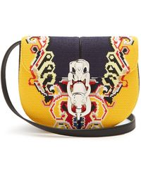 Loewe - Lapin Embroidered Cross-body Bag - Lyst
