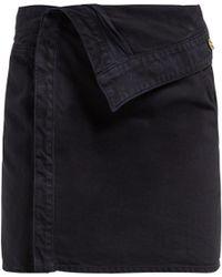 Jacquemus La Mini Asymmetric Denim Skirt