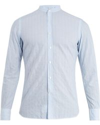 Glanshirt | Jared Striped Cotton-blend Shirt | Lyst