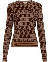 Fendi Ff Logo Jacquard Sweater