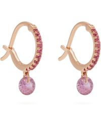 Raphaele Canot - Set Free Sapphire & Rose Gold Earrings - Lyst