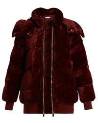 Stella McCartney - Stefani Oversized Quilted-velvet Jacket - Lyst