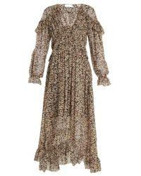 Zimmermann - Prima Cherry Silk-georgette Dress - Lyst