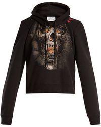 Vetements - Misplaced Shoulder Skull Print Sweatshirt - Lyst