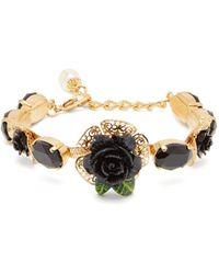 Dolce & Gabbana - Rose Appliqué Bracelet - Lyst