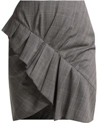 Étoile Isabel Marant - Mini-jupe en laine à volants Nel - Lyst
