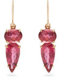 Irene Neuwirth - Tourmaline & Rose-gold Earrings - Lyst