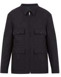 Lemaire - Patch-pocket Wool Jacket - Lyst
