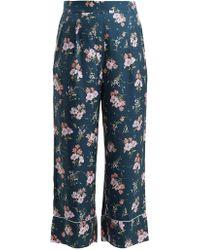 Rebecca Taylor - Emilia Floral Print Silk Blend Trousers - Lyst