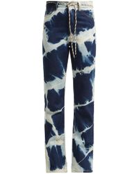 Aries - Lilly Argyle Bleached Jeans - Lyst