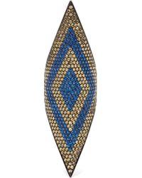 Lynn Ban - Sapphire & Rhodium Plated Ring - Lyst