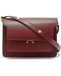 Marni - Trunk Medium Saffiano Leather Bag - Lyst