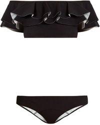 Lisa Marie Fernandez - Mira Ruffled Bonded Bikini - Lyst