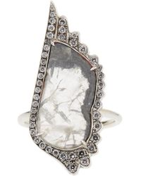 Susan Foster | Diamond Slice & White-gold Ring | Lyst