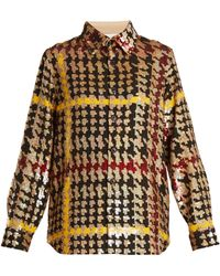 Ashish - Button Down Houndstooth Sequin Embellished Shirt - Lyst