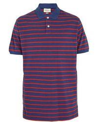 8ecb14d8b084 Gucci Stonewashed Stripe Polo Shirt in Blue for Men - Lyst