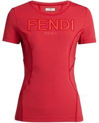Fendi - Logo Print Technical Top - Lyst