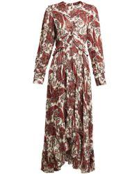 Isabel Marant - Jorja Paisley-print Silk-blend Dress - Lyst