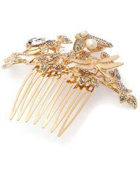 Dolce & Gabbana - Crystal Embellished Hair Slide - Lyst