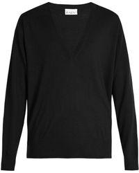 Raey - V-neck Fine-knit Cashmere Jumper - Lyst