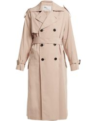 Toga - Belted Double-breasted Trench Coat - Lyst