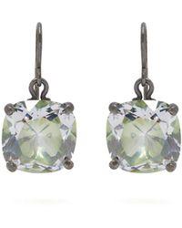 Bottega Veneta - Cubic-zirconia Drop Sterling-silver Earrings - Lyst