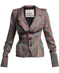 Vivienne Westwood - Striped Sateen Jacket - Lyst
