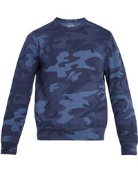 Polo Ralph Lauren - Camouflage-print Cotton-blend Sweatshirt - Lyst