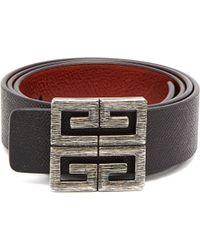 58d05d9e191 Givenchy - Ceinture réversible en cuir à boucle logo 4G - Lyst