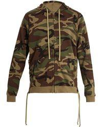 Faith Connexion - Camouflage Print Hooded Cotton Sweatshirt - Lyst