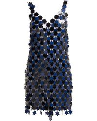 Paco Rabanne - Floral Chainmail Dress - Lyst