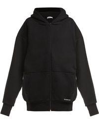 Balenciaga - Oversized Cotton Hooded Sweatshirt - Lyst