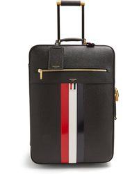 Thom Browne - Valise cabine en cuir texturé - Lyst