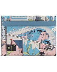 Prada - Comic-print Card Holder - Lyst