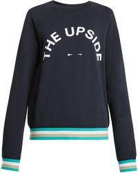 The Upside - Sid Cotton-jersey Performance Sweatshirt - Lyst