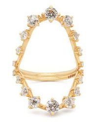 Fernando Jorge - Brilliant 18kt Gold & Diamond Open Ring - Lyst