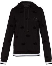 Dolce & Gabbana - Sweat-shirt en jersey stretch à capuche et logo - Lyst