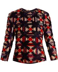 Isabel Marant | Tuline Quilted Velvet Top | Lyst