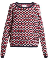 Allude | Round-neck Intarsia Knitted Wool-blend Jumper | Lyst