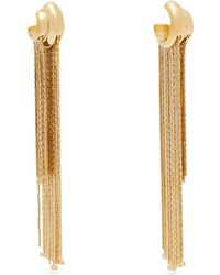 Givenchy - Logo-charm Chain-fringe Single Earring - Lyst
