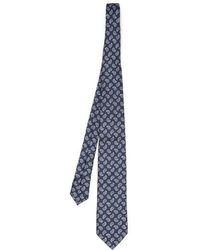 Dunhill - Micro Paisley-print Silk Tie - Lyst