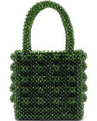 Shrimps - Antonia Emerald Crystal Embellished Bag - Lyst